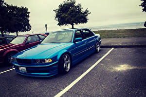Pictures BMW Blue Parking e38 750il Cars