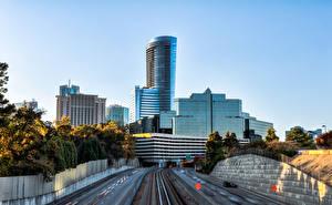 Fotos USA Wolkenkratzer Wege HDRI Atlanta Georgia Städte