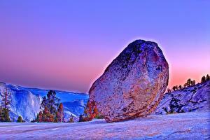 Bilder Vereinigte Staaten Park Steine Yosemite Felsen HDR Natur