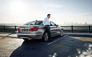 Images BMW Men Parking Sedan 2015 5 series Sedan F10 auto
