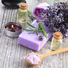 Pictures Candles Closeup Soap Spa Salt zen lavender soap oil