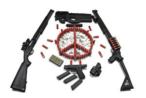 Picture Assault rifle Pistols Cartridge (firearms) Gun (Firearm) Pacifism