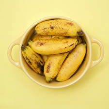 Hintergrundbilder Bananen Großansicht Gelb Tasse das Essen