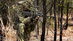 Image Soldiers Sniper rifle Snipers Camouflage australian army camouflage