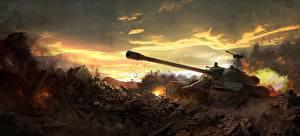 Hintergrundbilder World of Tanks Spiele