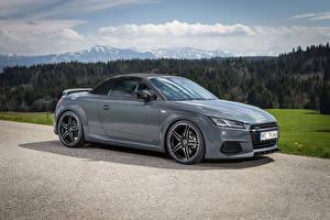 Bilder Audi Graue Metallisch Roadster 2015 TT roadster (Abt) Autos