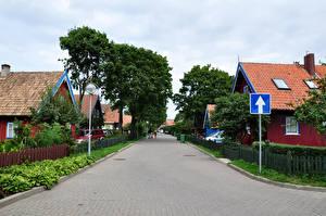 Bilder Litauen Haus Stadtstraße Bäume Neringa Nida Städte