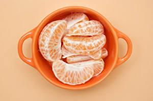 Fotos Großansicht Mandarine Orange Tasse Lebensmittel