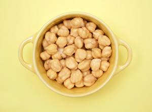 Hintergrundbilder Nahaufnahme Tasse Yellow cubed Chickpea das Essen