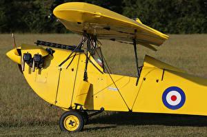 Hintergrundbilder Flugzeuge Maschinengewehr Antik Gelb