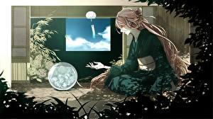 Tapety na pulpit Vocaloid Kimono rakeru fleedo ia Anime Dziewczyny