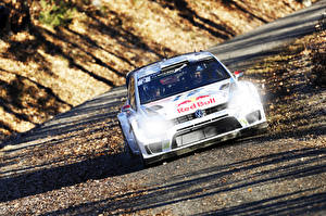 Wallpapers Volkswagen Tuning Front Rallying Polo WRC Cars