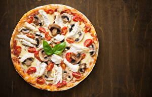 Bilder Fast food Pizza Pilze Tomaten das Essen