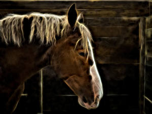 Pictures Horses Head Electric Horse Animals