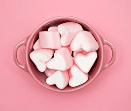 Hintergrundbilder Bonbon Hautnah Süßigkeiten Rosa Farbe Herz Tasse das Essen