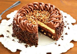 Bilder Torte Schokolade Schalenobst Süßigkeiten Großansicht Lebensmittel