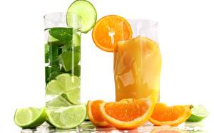 Pictures Mixed drink Drinks Orange fruit Closeup Fruit Lime Food
