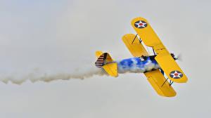 Hintergrundbilder Antik Flugzeuge Rauch Biplane Luftfahrt