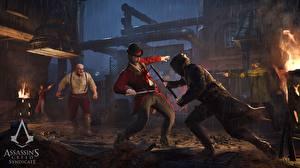 Hintergrundbilder Assassin's Creed Syndicate Mann Schlägerei Spiele