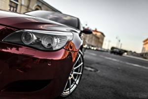 Picture BMW Headlights Wine color Smotra E60 Cars