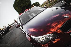 Pictures BMW Headlights Burgundy E60 5 series Cars