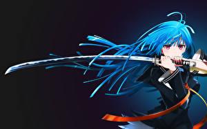 Tapety na pulpit Wojownik Katana Szabla assassinwarrior tendou kisara black bullet Anime Dziewczyny