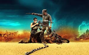 Hintergrundbilder Mad Max: Fury Road Charlize Theron Tom Hardy Mann Flinte Kette Film