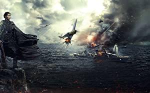 Fotos Soldaten Flugzeuge Schiff Umhang Scharfschütze Battle for Sevastopol 2015 Film Mädchens Heer