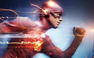 Pictures Superheroes The Flash 2014 TV series The Flash hero Barry Allen Fantasy