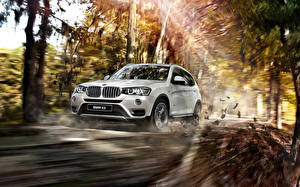 Pictures BMW Rays of light White Motion 2015 X3 F25 Cars