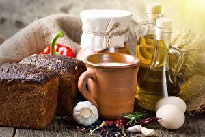 Pictures Milk Bread Allium sativum Egg Cup Food