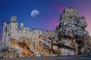 Pictures Spain Castles Ruins Moon Rock Zuheros Andalusia Cities