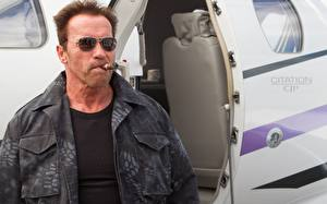 Wallpaper The Expendables 2010 Arnold Schwarzenegger Eyeglasses Jacket Celebrities