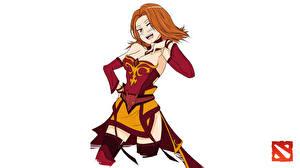 Wallpapers DOTA 2 Lina Warriors Redhead girl Games Girls Fantasy