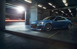 Fotos Subaru Hellblau Parkplatz 2015 STI Performance automobil