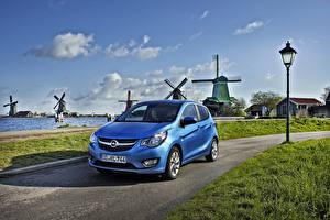 Bilder Opel Wege Himmel Hellblau Windmühle 2015 Karl Autos