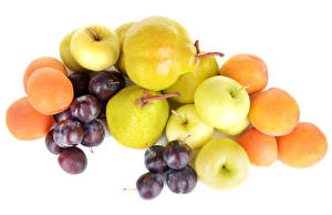 Photo Fruit Grapes Apples Pears Apricot