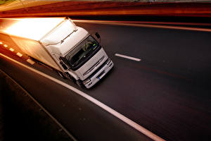 Image Lorry Roads White Driving automobile