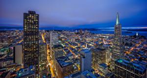 Bilder USA Wolkenkratzer Kalifornien San Francisco Nacht HDRI Städte