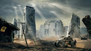 Hintergrundbilder Ruinen Apokalypse Fantasy Städte