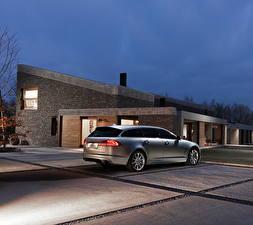 Pictures Jaguar Houses Silver color Back view 2012 XF Sportbrake automobile