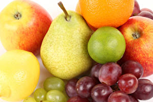 Images Fruit Pears Apples Grapes Lemons Food