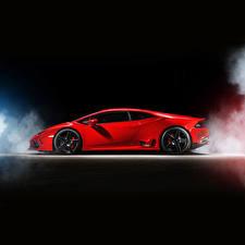 Bilder Lamborghini Rot Seitlich Luxus 2015 Ares Design Huracan LB724 Autos