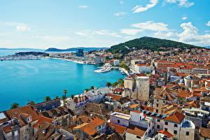 Picture Croatia Building Sea Pier City of Split Cities