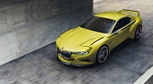 Photo BMW Yellow green 3.0 CSL Hommage Cars