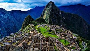 Fotos Peru Ruinen Gebirge Machu Picchu Natur