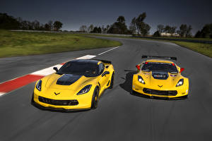 Wallpapers Chevrolet Tuning 2 Yellow 2016 Z06 C7 R Edition Cars
