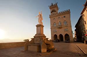 Bilder Haus Denkmal Republik San Marino Festung Straße