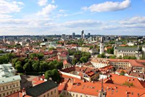 Hintergrundbilder Litauen Haus Vilnius Wolke