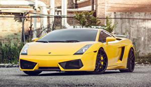 Fotos Lamborghini Gelb Vorne Gallardo Autos